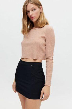 BDG Women Long Sleeve - Girlfriend Cropped Long Sleeve Tee