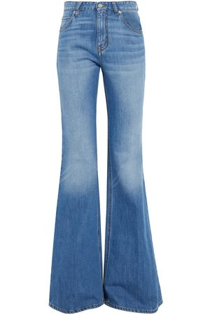 Victoria Victoria Beckham Woman San Fran High-rise Flared Jeans Mid Denim Size 26
