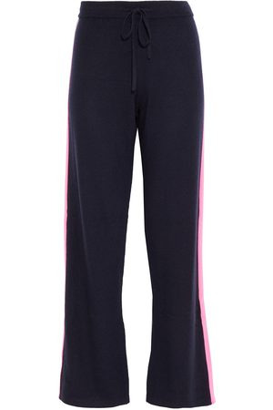 Chinti & Parker Woman Striped Wool And Cashmere-blend Track Pants Navy Size L