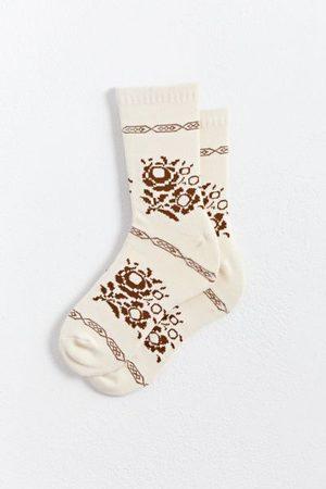 Urban Outfitters Men Socks - Flower Crew Sock