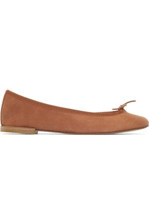 Repetto Women Ballerinas - Brown Suede Cendrillon Ballerina Flats