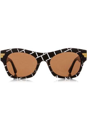 Bottega Veneta Women's Square-Frame Intrecciato Acetate Sunglasses - - Moda Operandi