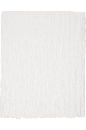 Totême Women Scarves - Off-White Silk Crinkled Scarf