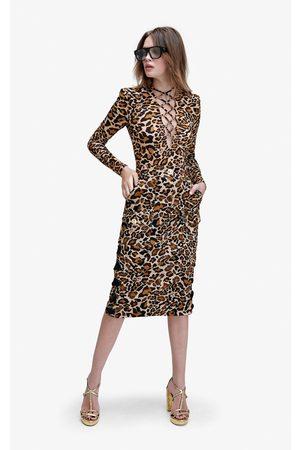 Dundas Women's Ryder Cotton Pencil Skirt - /animal - Moda Operandi