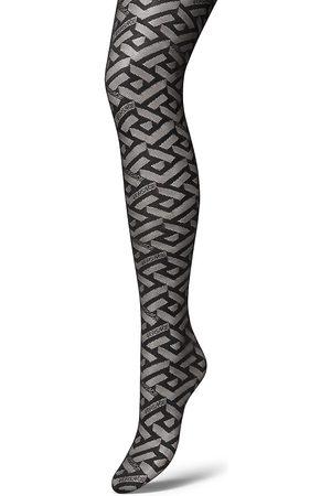 VERSACE Women Stockings - La Greca Monogram Tights