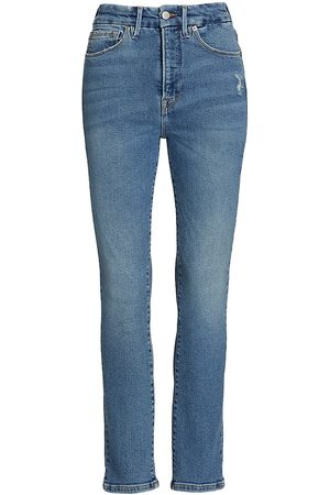 GOOD AMERICAN Good Classic Stacked Jeans