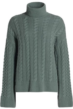 NAADAM Wool & Cashmere Cabled Turtleneck