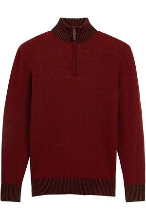 Bugatchi Quarter-Zip Mockneck Sweater