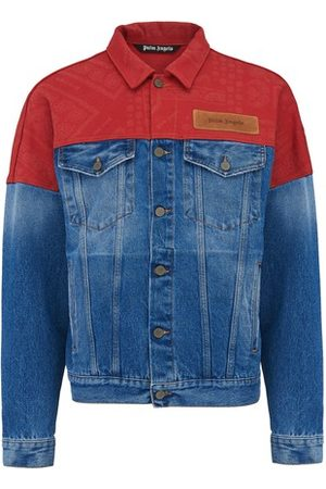 Palm Angels Men Denim Jackets - Bandana Patchwork denim jacket