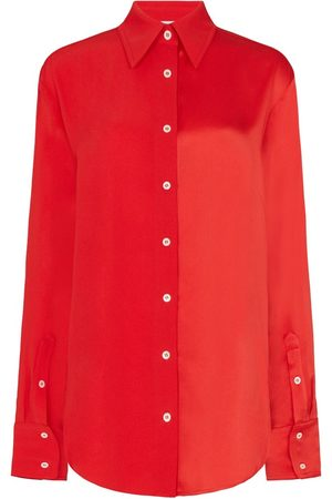 SERENA BUTE The Oversized Shirt With Double Cuff Detail - Poppy Red Viscose