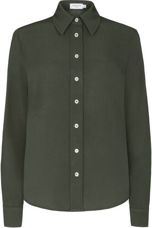 SERENA BUTE Women Shirts - The New Serena Shirt - Khaki Green Viscose
