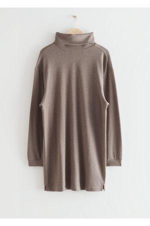 & OTHER STORIES Turtleneck Mini Fleece Dress