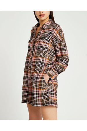 River Island Womens check jumpsuit
