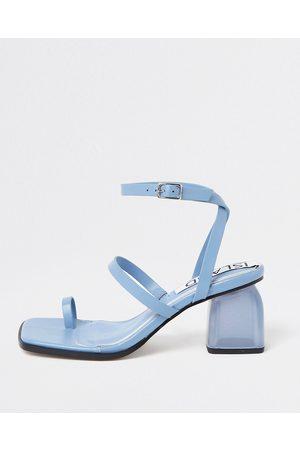 Women Heeled Sandals - River Island Womens perspex block heel sandals