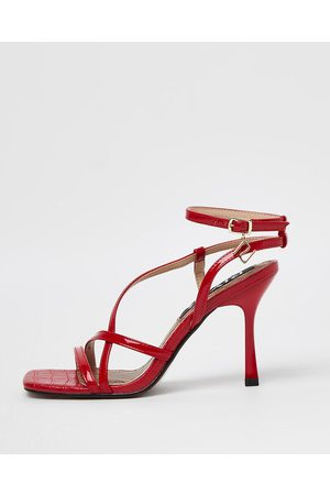 Women Heeled Sandals - River Island Womens strappy heeled sandals