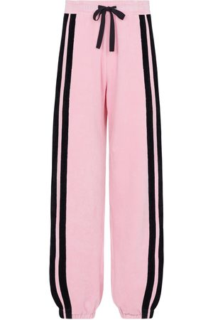 SERENA BUTE The Classic Wide Leg Jogger Gathered - Pink & Black Velour