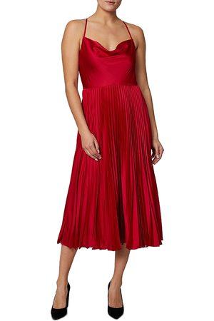 Shelli Segal Cowlneck Midi Dress