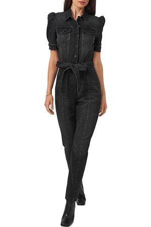 1. STATE Puff Sleeve Belted Jumpsuit