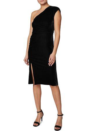 Shelli Segal Velvet One Shoulder Dress