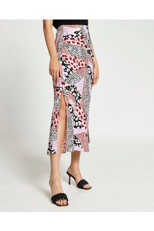 Women Printed Skirts - River Island Womens animal print side split maxi skirt