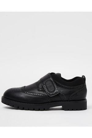 Boys Brogues - River Island Boys RI velcro brogue shoes