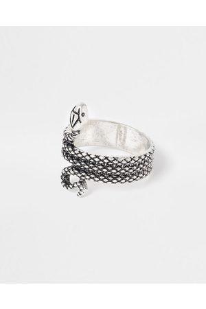 Men Rings - River Island Mens Silver snake ring