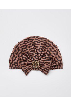 River Island Girls RI print bow turban