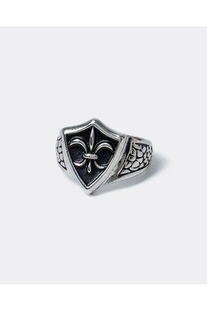 Men Rings - River Island Mens Silver colour vintage leur ring