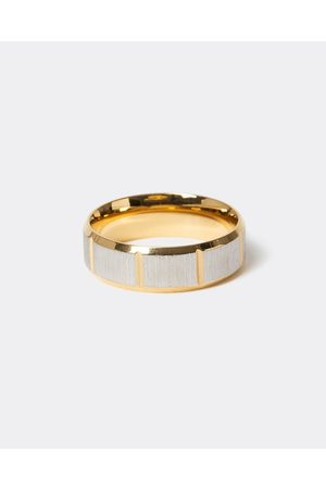 Men Rings - River Island Mens Gold colour textured ring