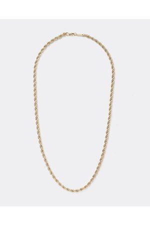 Men Necklaces - River Island Mens Gold colour rope twist chain necklace