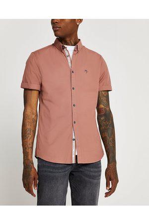 River Island Mens short sleeve Oxford shirt