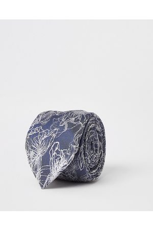 River Island Mens floral print tie