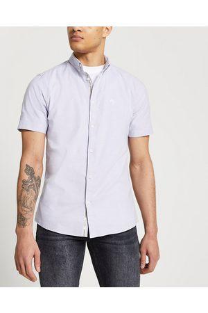 River Island Mens Maison Riviera slim short sleeve shirt