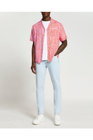 River Island Mens graphic print short sleeve shirt