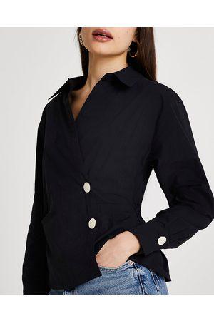 River Island Womens side tuck long sleeve shirt