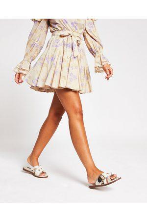 Women Printed Skirts - River Island Womens floral printed mini skirt