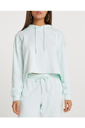 Women Long sleeves - River Island Womens raw edge long sleeve hoodie