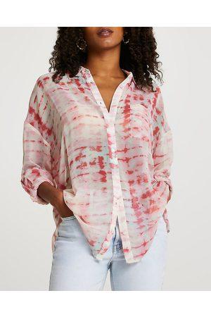 Women Long sleeves - River Island Womens long sleeve tie dye shirt