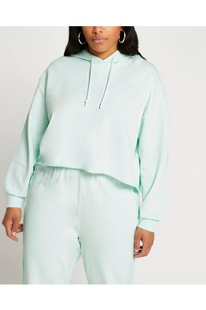 River Island Womens Plus raw edge long sleeve hoodie