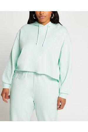 Women Long sleeves - River Island Womens Plus raw edge long sleeve hoodie