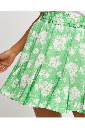 River Island Womens Petite floral print mini skirt