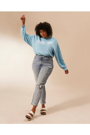 Women Long sleeves - River Island Womens Plus RI Studio long sleeve sweatshirt