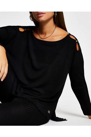 River Island Womens long sleeve keyhole detail top