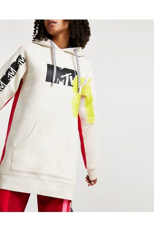River Island Womens MTV oversized long sleeve hoodie