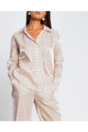 River Island Womens long sleeve geometric print shirt