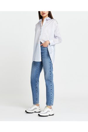 Women Long sleeves - River Island Womens stripe organza long sleeve shirt