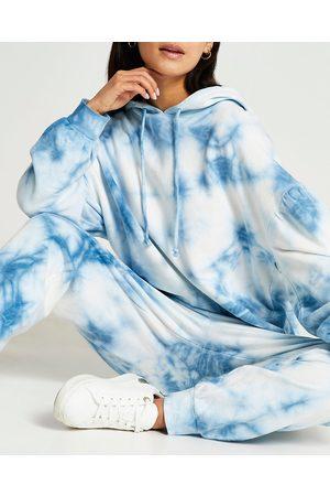 Women Long sleeves - River Island Womens Petite tie dye long sleeve hoodie