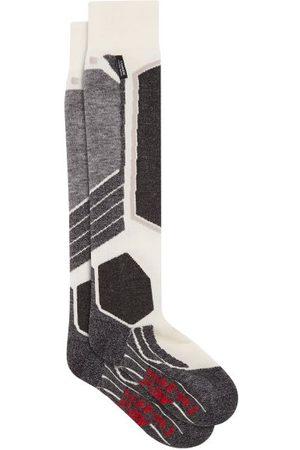 Falke Sk2 Stripe-jacquard Technical-jersey Socks - Womens - White