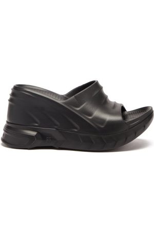 Givenchy Marshmallow Rubber Wedge Sandals - Womens