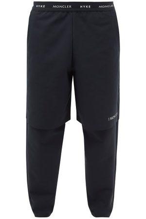 4 Moncler Hyke Logo-jacquard Waistband Jersey Track Pants - Mens